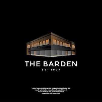 Логотип градиента здания