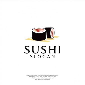 モダンな寿司のロゴのテンプレート
