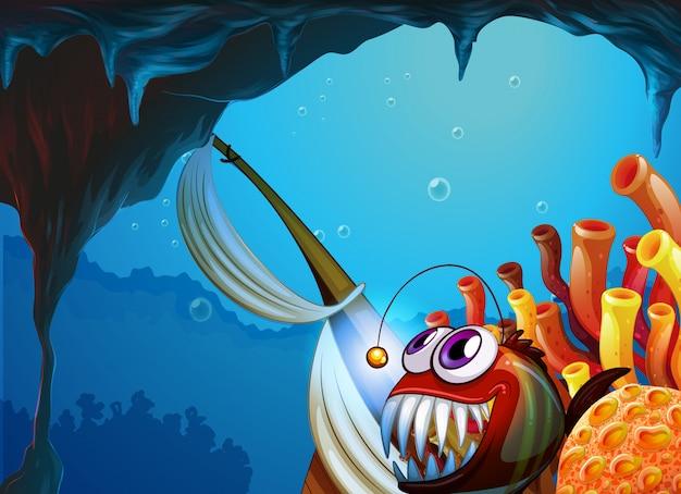 Пещера под морем