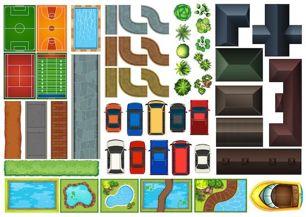 道路要素の上面図