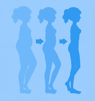 体重を減らす若い女性