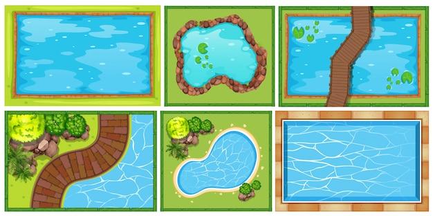 池の上の風景