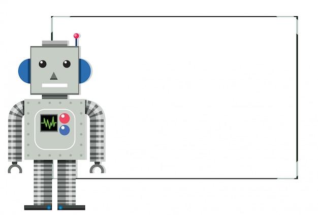 現代のロボット白いバナー