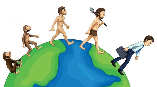地球上の人間の進化
