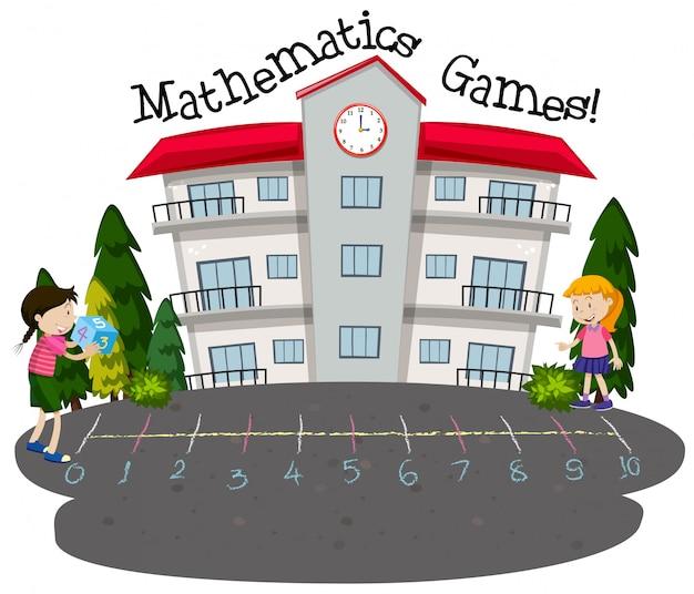 数学ゲームをする学生