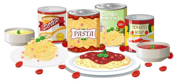 パスタとスープのセット