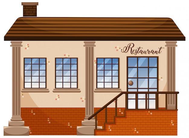 古典的なレストランの建物
