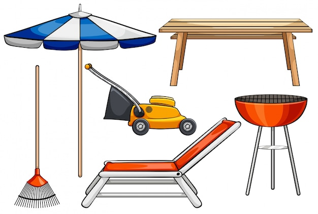 Различные объекты, используемые для наружных целей