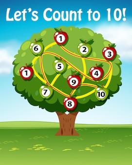 Позволяет считать до десяти деревьев