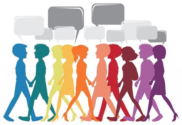 異なる人々のネットワーク