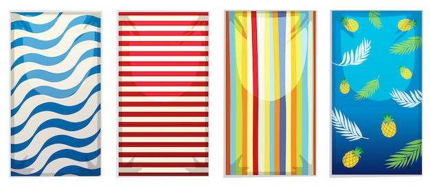 Набор пляжного полотенца