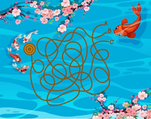 鯉魚の迷路ゲーム