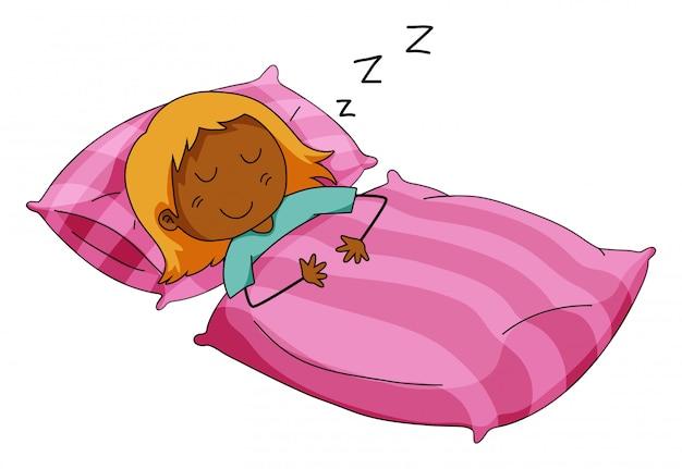 女の子寝る