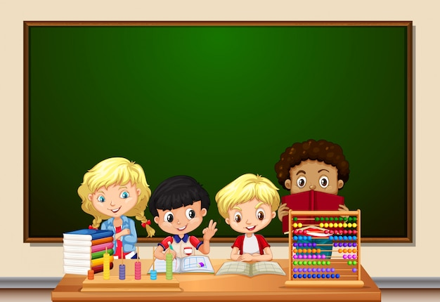 教室の学生グループ
