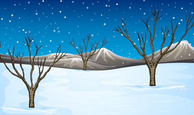 雪で覆われたフィールド