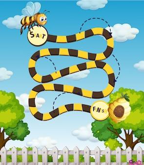 蜂の迷路ゲーム