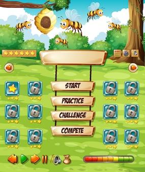 ハチのゲームテンプレート