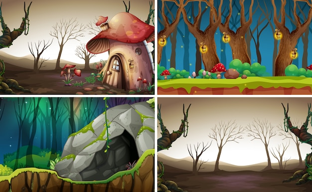 妖精の森の背景