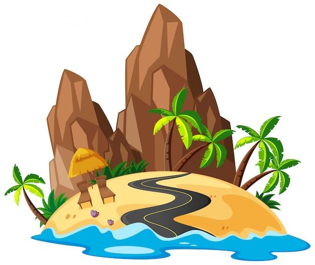 Красивый островный пейзаж