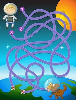 Игра малыш космонавта