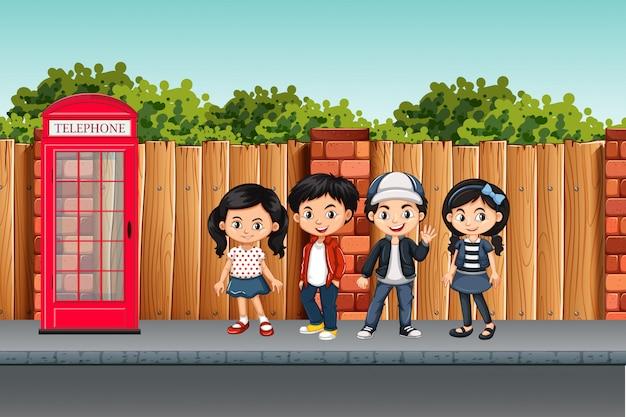 Симпатичная детская уличная сцена