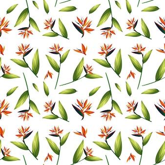 鳥の楽園のシームレスなパターン