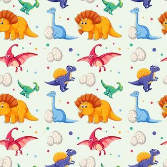 恐竜のシームレスなパターン