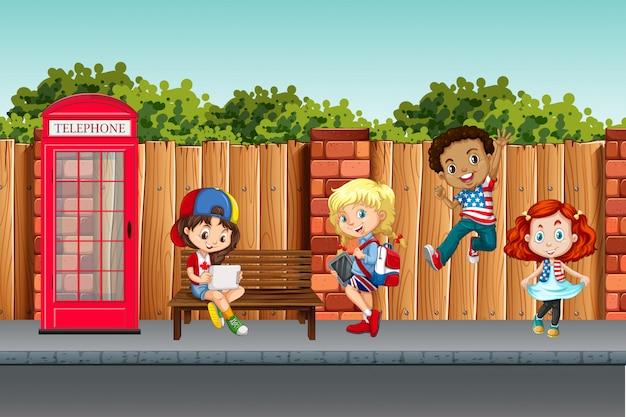 Международные дети в городе