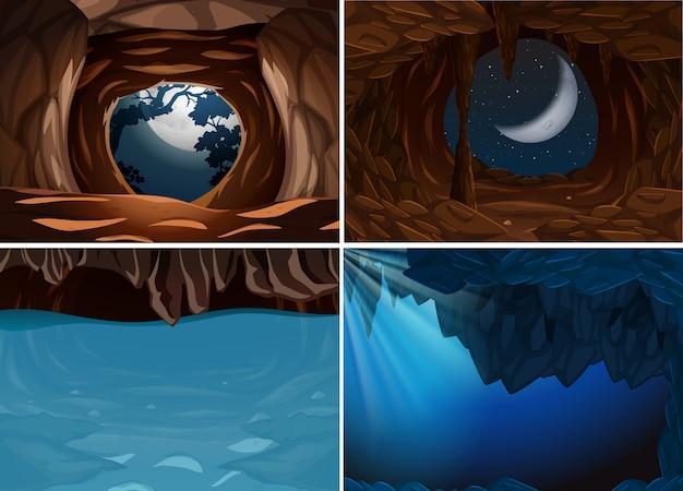 内側の洞窟のシーンのセット