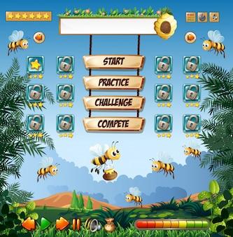 Шаблон для игры в пчелиный мед