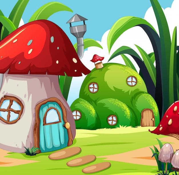 魔法の土地の家
