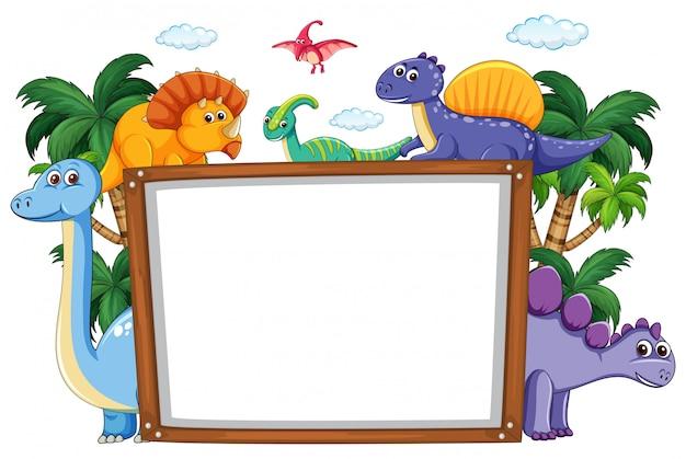 Шаблон доски для динозавров
