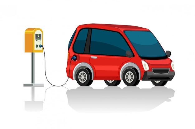 充電ステーションの電気自動車