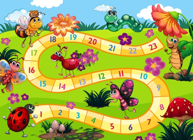 虫のテーマのボードゲーム