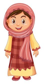 伝統的な衣装でイラグの女の子