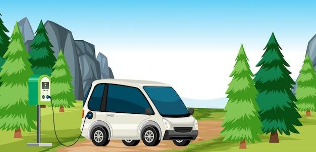 Электрический заряд автомобиля в природе