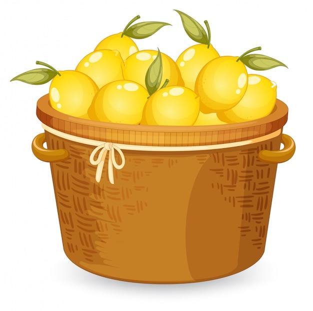 Корзина с лимоном