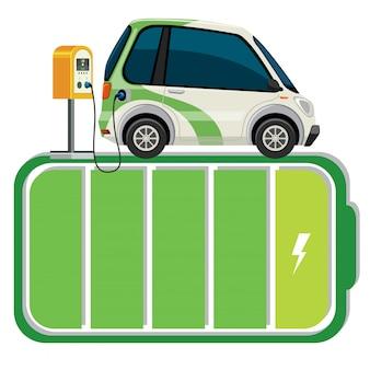 電気自動車のバッテリースタンド