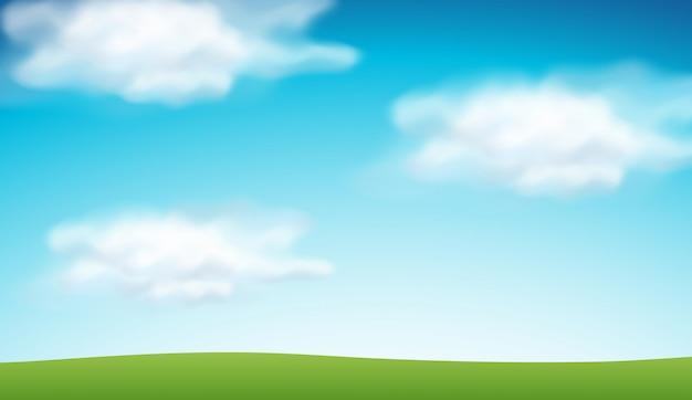 平野の青空の背景