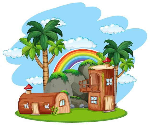 エンチャンテッドマッシュルーム木造住宅