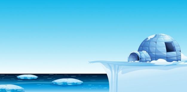 冷たい北極の背景