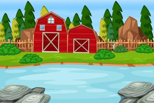 自然農地の風景