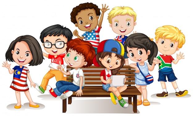 国際的な子供のグループ
