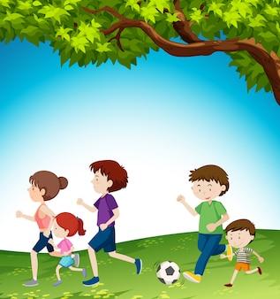 Семейная деятельность в парке
