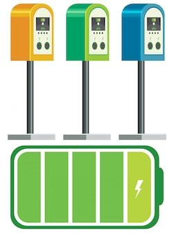 電気自動車の充電器のバッテリー