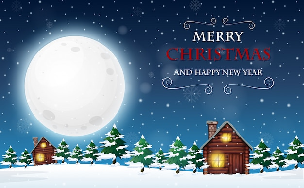 メリークリスマスと幸せな新年のテンプレート