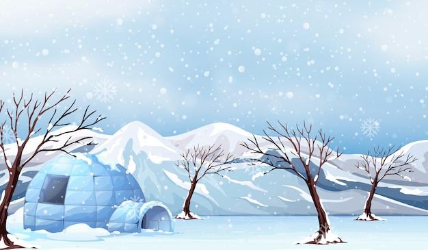 白い冬の風景