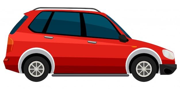 白い背景に電気自動車