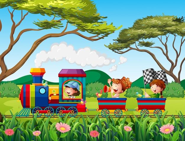 Поезд и дети