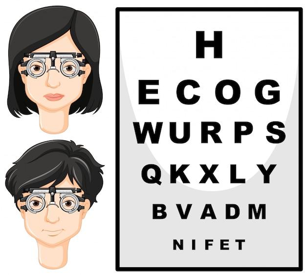 男と女のテストメガネ